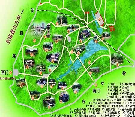 沈阳市植物园游园示意图(图)