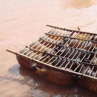 沙坡头羊皮筏