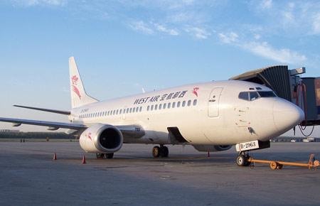 图文:西部航空公司波音737-300型客机(6)