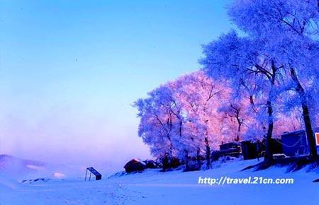 吉林:雪趣的放纵 冰天雪地中狂舞