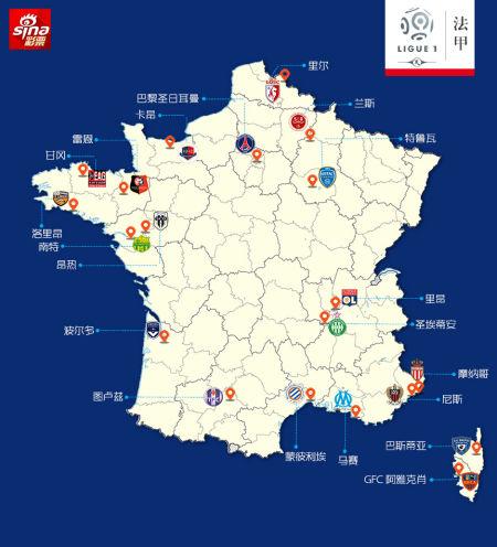 欧洲五大联赛球队地图:看看你球队在哪(组图)_