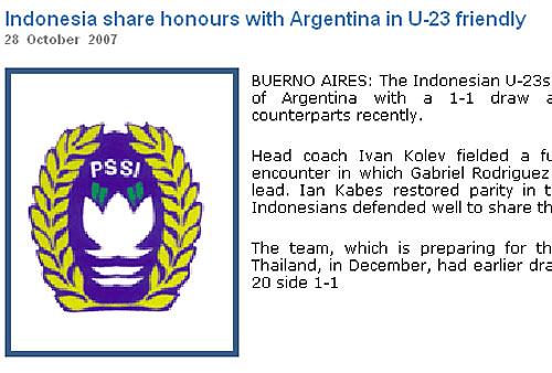 印尼国奥热身战平阿根廷两平劲旅圆满结束南美集训