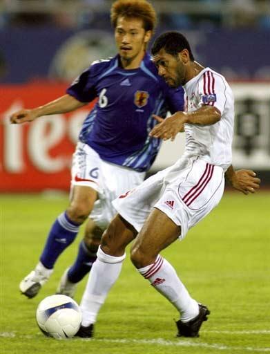图文-[亚洲杯]阿联酋1-3日本阿联酋队员欲射门