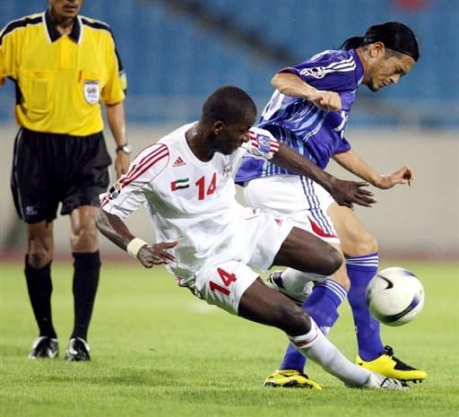 图文-[亚洲杯]阿联酋1-3日本日本队员有些大意