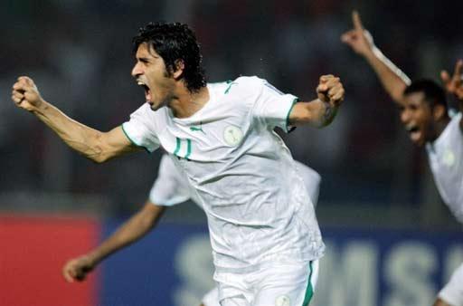 图文-[亚洲杯]沙特队2-1印尼队萨阿德握拳庆祝