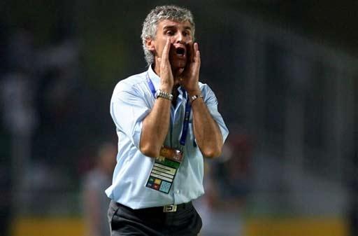 图文-[亚洲杯]沙特队2-1印尼队印尼教练呐喊