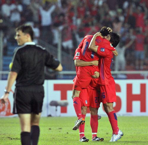 图文-[亚洲杯]韩国队VS印尼队无法抑制内心激动