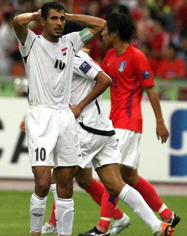 图文-[亚洲杯]伊拉克VS韩国尤尼斯为何懊恼?