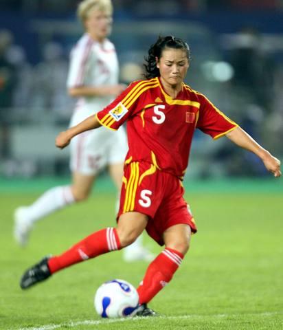 图文-[女足世界杯]中国3-2丹麦本场英雄宋晓丽