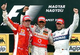 F1匈牙利站汉密尔顿夺冠阿隆索取回5分马萨零蛋