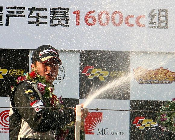 全锦赛收官站1600cc组:韩寒首夺车手年度冠军