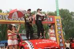 图文-CRC北京怀柔站比赛落幕冠军辛吉斯喷洒香槟