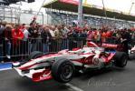 图文-F1欧洲站周四即景无人关注亚久里赛车