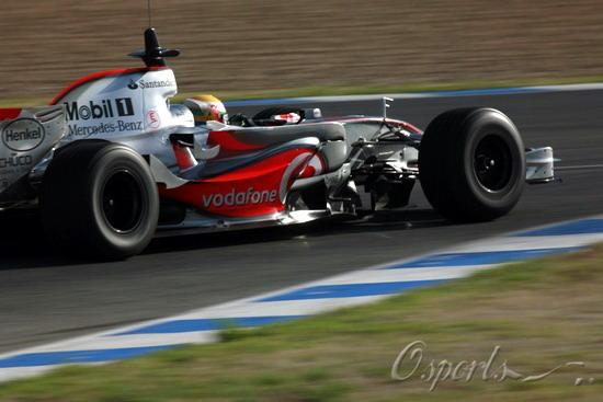 图文-F1赫雷兹试车次日(07.25)迈凯轮获当日最快