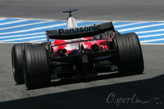 图文-F1赫雷兹试车第三日(07.26)丰田TF107赛车