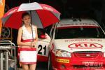 图文-场地锦标赛第五站排位赛美女车模为比赛增色
