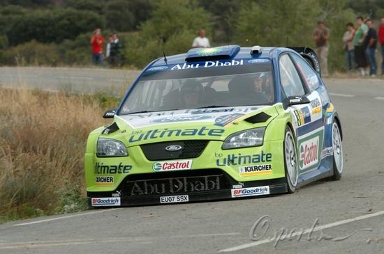 图文-WRC西班牙站格隆霍姆稳扎稳打