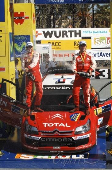 图文-WRC西班牙站勒布和领航埃兰纳