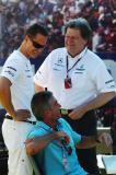F1车手抵达阿尔伯特公园