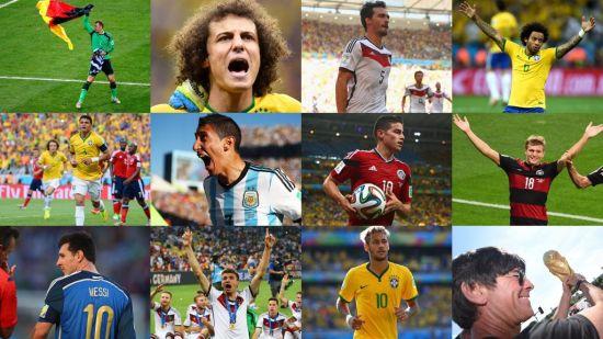 FIFA公布世界杯梦幻阵容