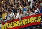 图文-[西甲]皇马3-1马洛卡球迷打出标语感谢小贝