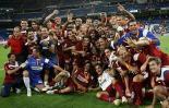 图文-[超级杯]皇马3-5塞维利亚冠军球队庆祝胜利