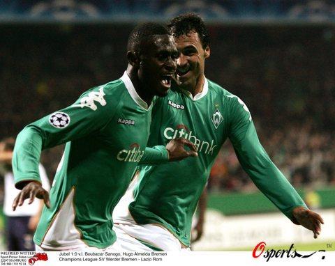 图文-[冠军杯]不来梅2-1拉齐奥萨诺戈为绿军建功