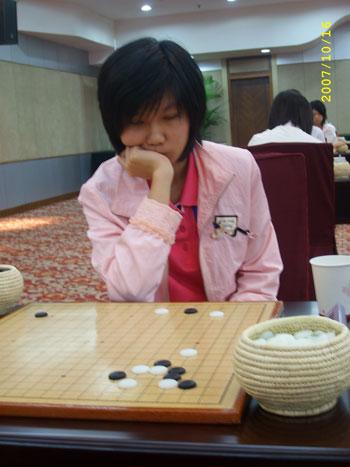 图文-围棋女子国家队选拔第5轮李赫思考局部手段
