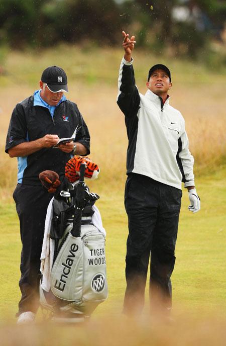 图文-英国公开赛决赛轮伍兹与威廉姆斯