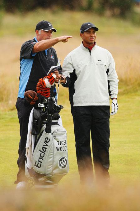 图文-英国公开赛决赛轮与老搭档并肩作战
