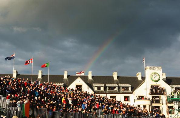 图文-英国公开赛决赛轮花絮英国公开赛看台一角