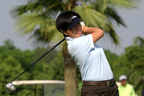 图文-中南分区赛女子组第一轮黄山高尔夫董莉