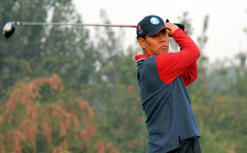 图文-首都媒体十月月例赛开杆收杆望球路