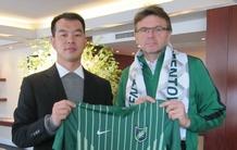 绿城俱乐部与特鲁西埃正式签约