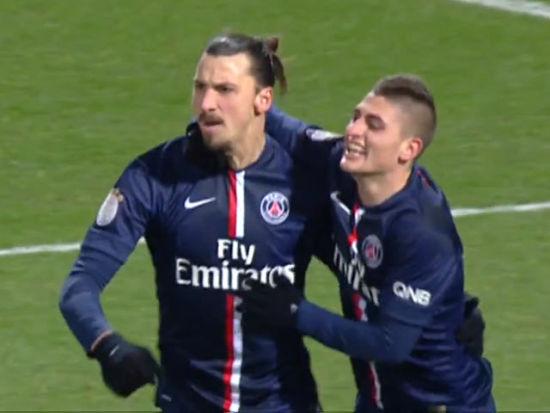 卡瓦尼失俩单刀伊布破门 里昂1-1巴黎