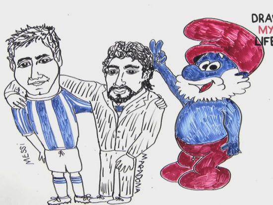 hz     【球王这样炼成的 手绘漫画描述梅西职业生涯|1415西甲视频