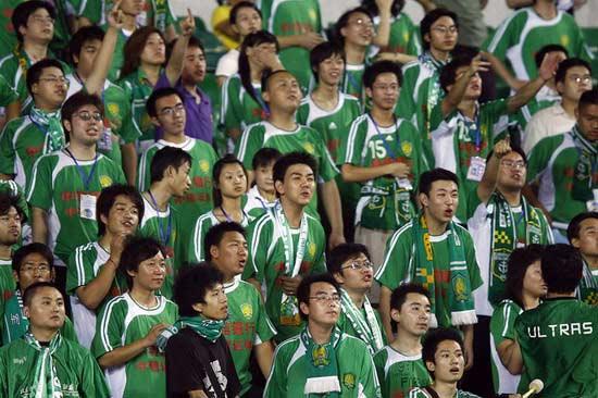 图文-[中超]北京国安2-3上海申花主场球迷期待再胜
