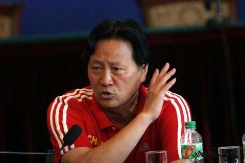 图文-朱广沪发表激情演说直言小组赛没有对手