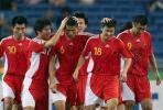 图文-[亚洲杯]中国队VS马来西亚中国队员团结一心