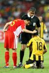 图文-[亚洲杯]中国队5-1马来西亚最感人的一刻