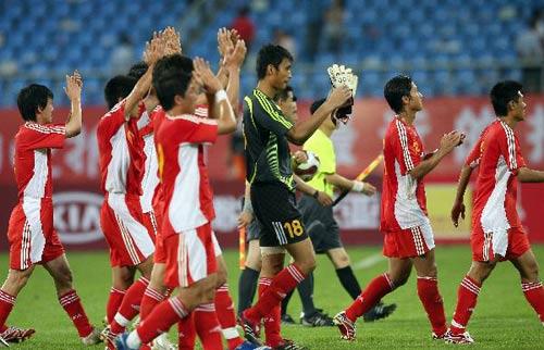 图文-[四国赛]中国国奥2-0博茨瓦纳中国队谢幕