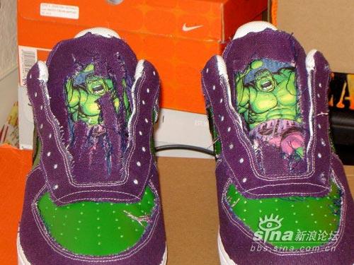 绿巨人-恐怖球鞋的破坏者AirForce1LowHulk