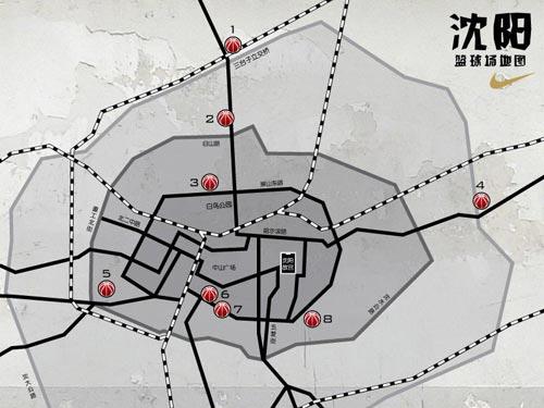 图文-NIKE向你推荐各城市的火力球场沈阳球场地图