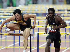 上海黄金大奖赛110米栏刘翔不敌罗伯斯仅获第三