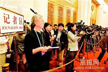 奥运北京聚拢全球目光97名境外记者昨天采访北京团