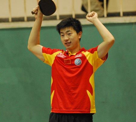 图文-中国乒乓球赛国乒旅游马龙要当超人?紫金山射箭训练图片