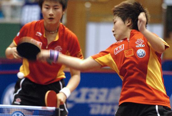 图文-07中国乒乓球公开赛丁宁刘诗雯越战越勇