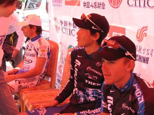 图文-环湖赛第四赛段赛况李富玉是亚洲的骄傲