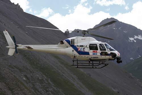 图文-环法第九赛段索勒夺冠直升机保驾护航