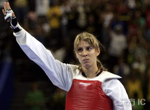 图文-泛美运动会17日精彩赛况娜塔莉亚挥手致意